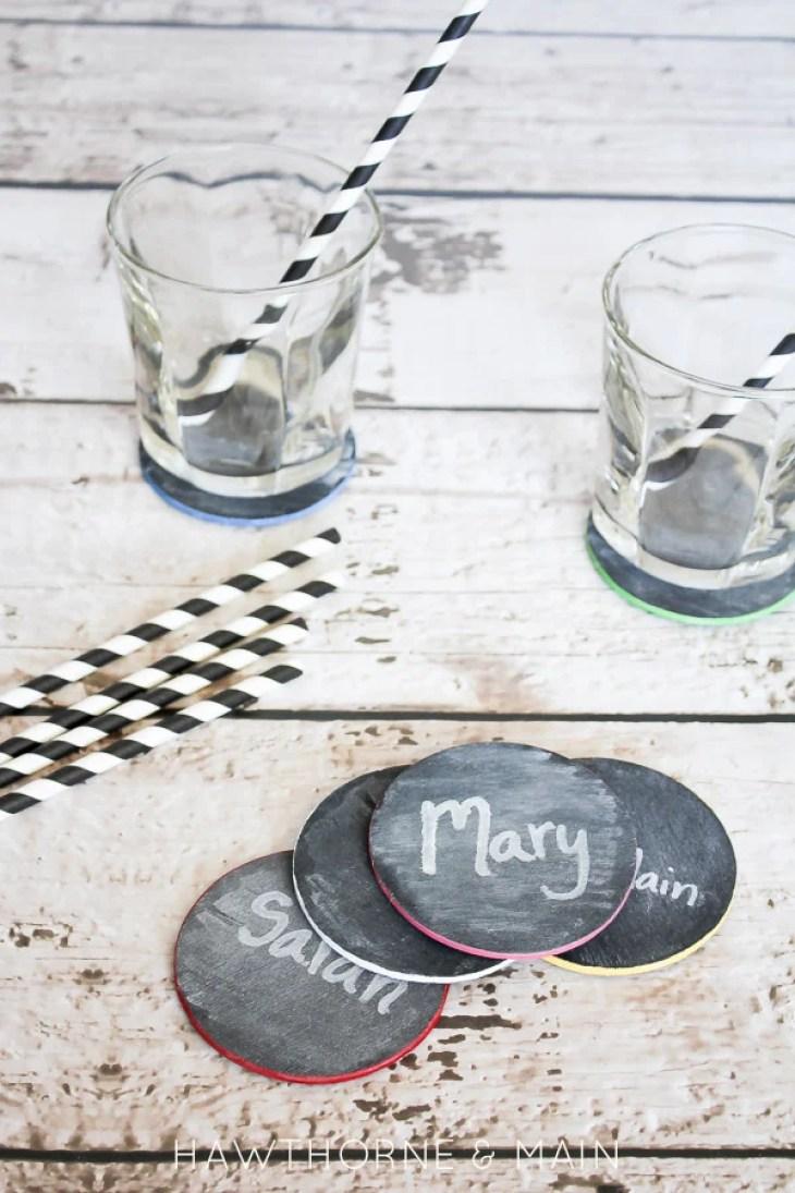 Chalk board coasters 3
