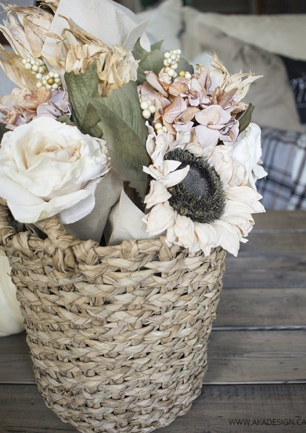 Easy Fall Basket of Flowers