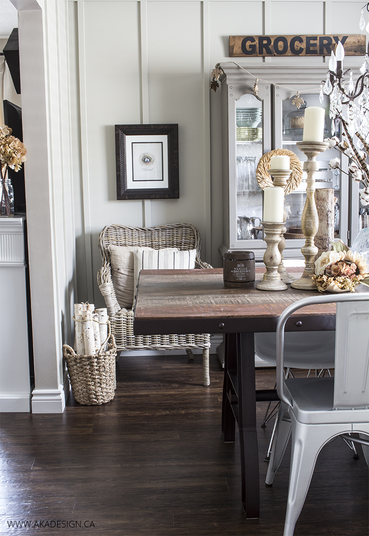 Home Made Lovely Late Fall Dining room