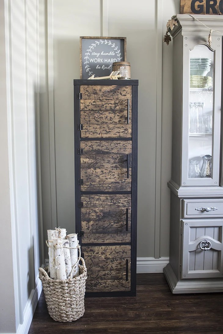 DIY Rustic Cube Shelves Ikea Hack Home Made Lovely