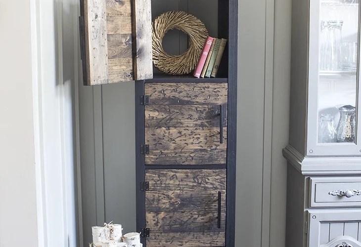 DIY Rustic Cube Shelves Ikea Hack Open Door AKA Design