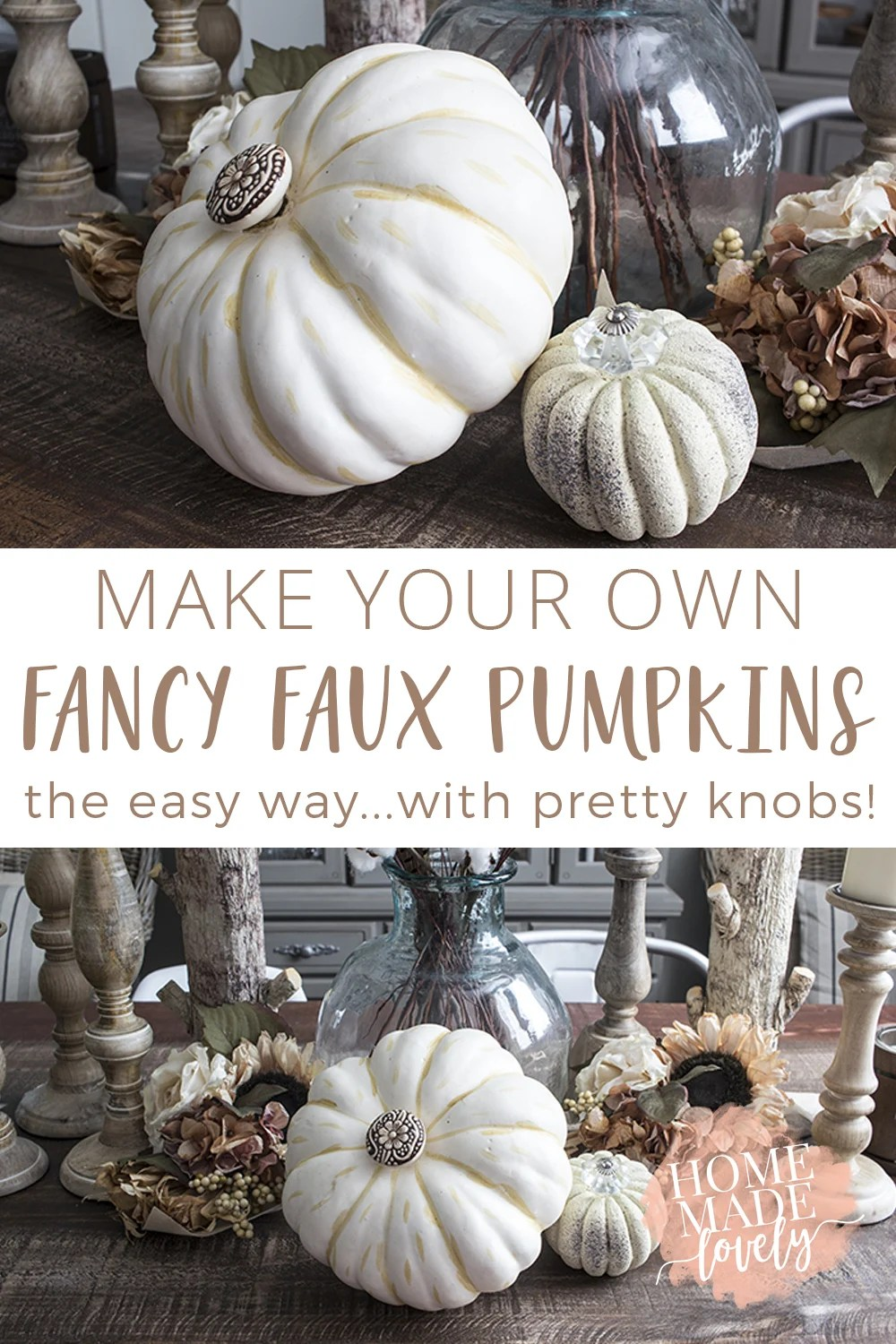 DIY fancy faux pumpkins pin