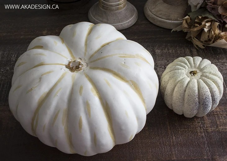 Fancy Faux Pumpkins - Remove the Stems