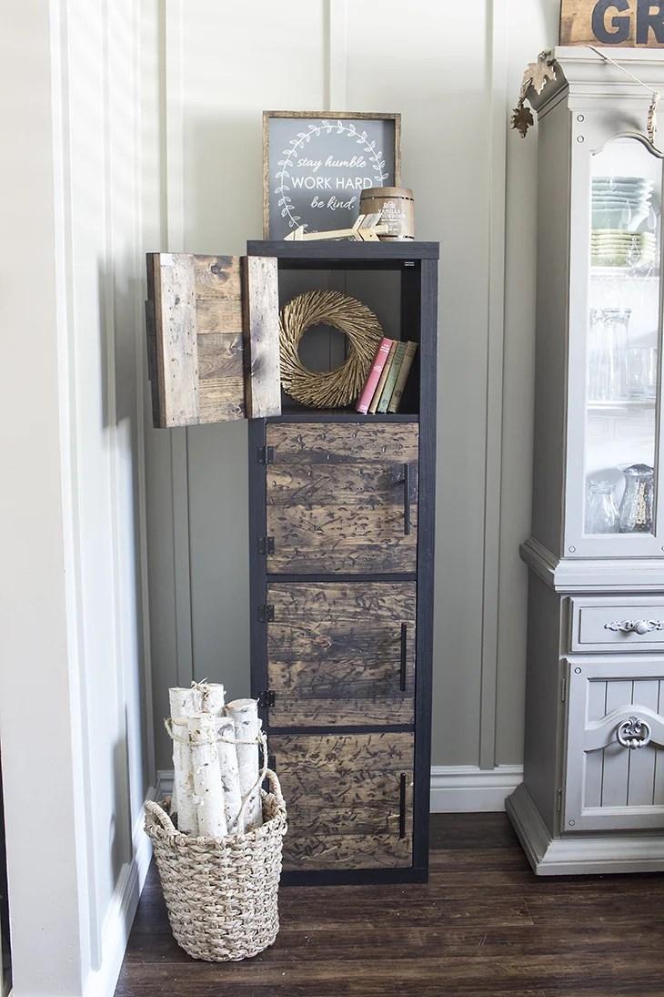 DIY Rustic Cube Shelves Ikea Hack Open Door Home Made Lovely