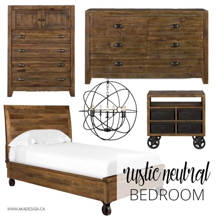 Rustic Neutral Bedroom Cymax