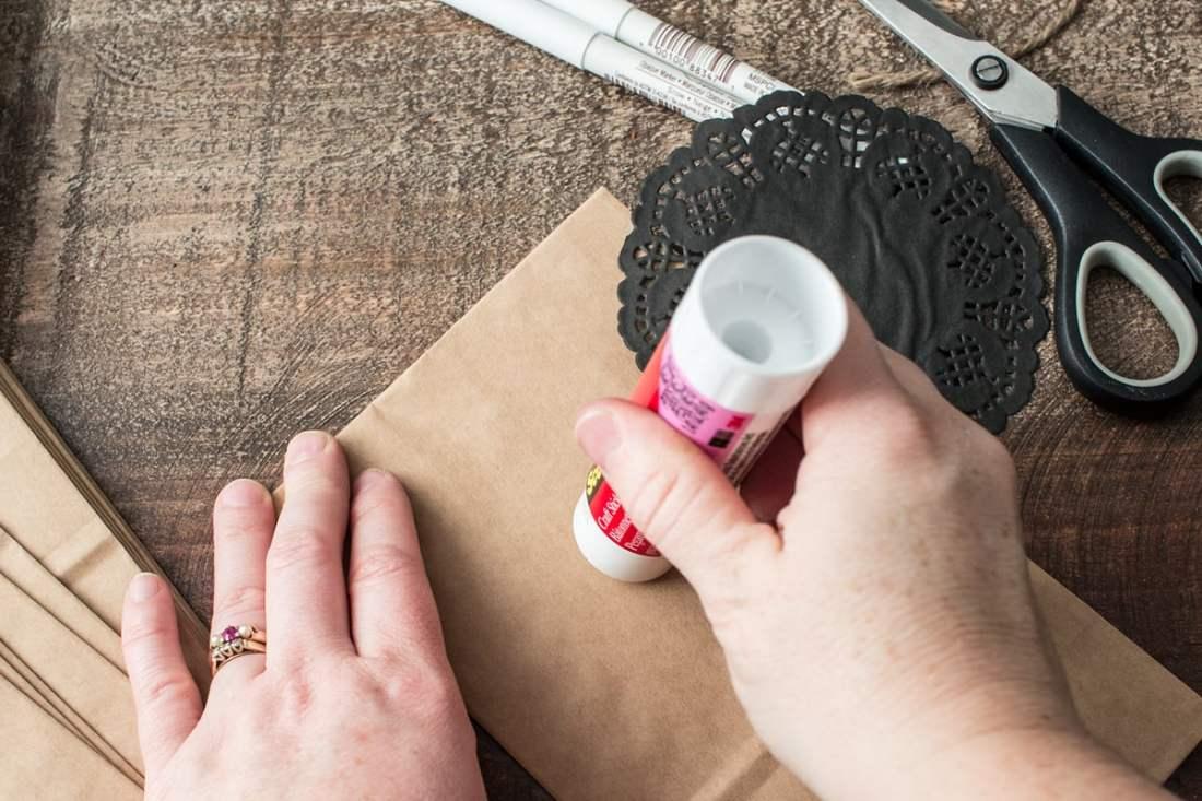 Advent Calendar Step 2 Glue Doilies