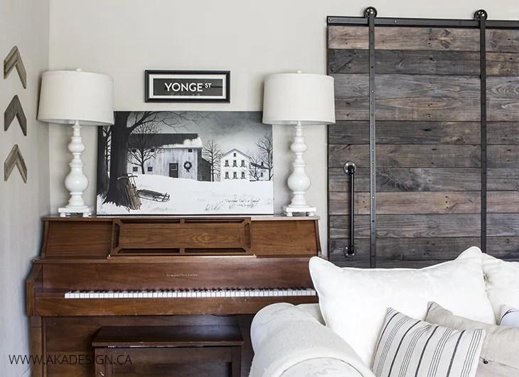 AKA DESIGN christmas living room piano