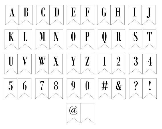 photograph regarding Printable Letter Banners named Free of charge Printable Banner Letters