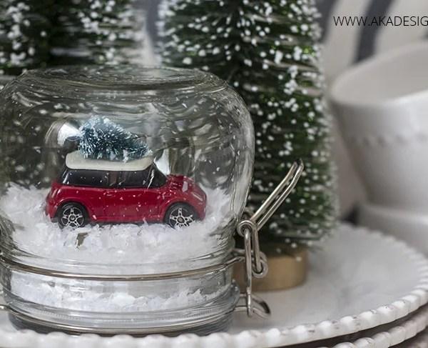 DIY Mini Cooper Dinky Car Christmas Tree Snow Globe