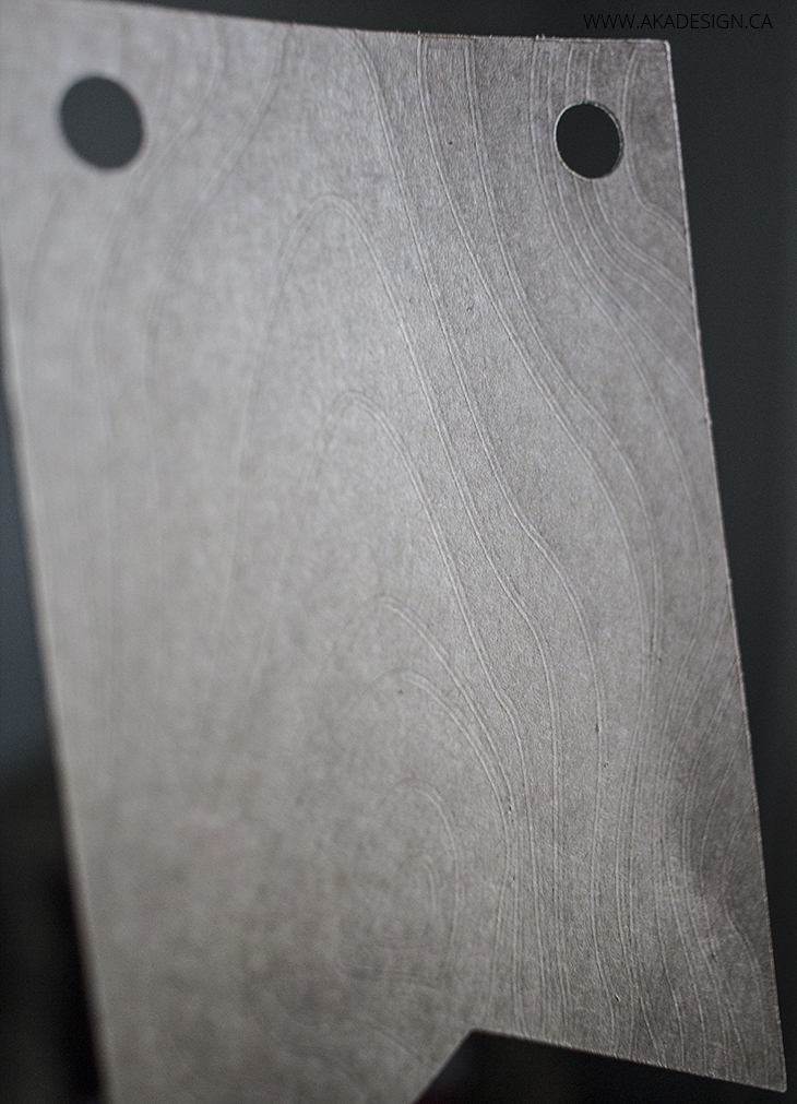 faux bois embossed card stock