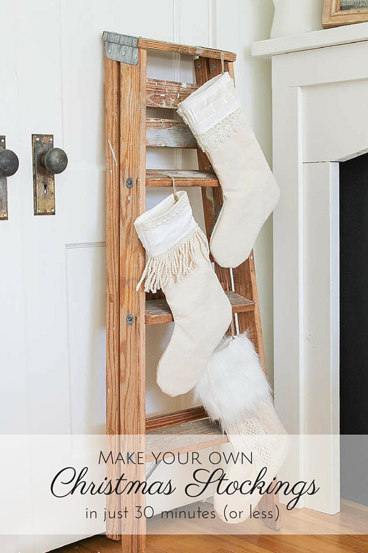 make your own Christmas stockings