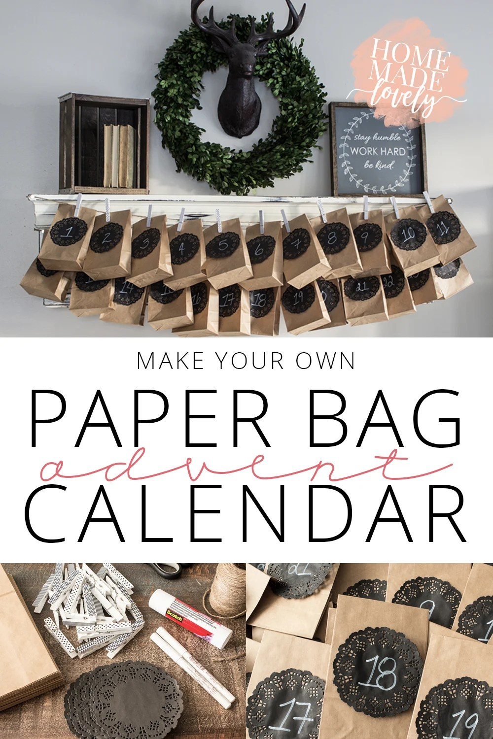 make your own paper bag advent calendar