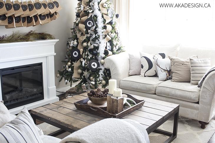 rearranged living room