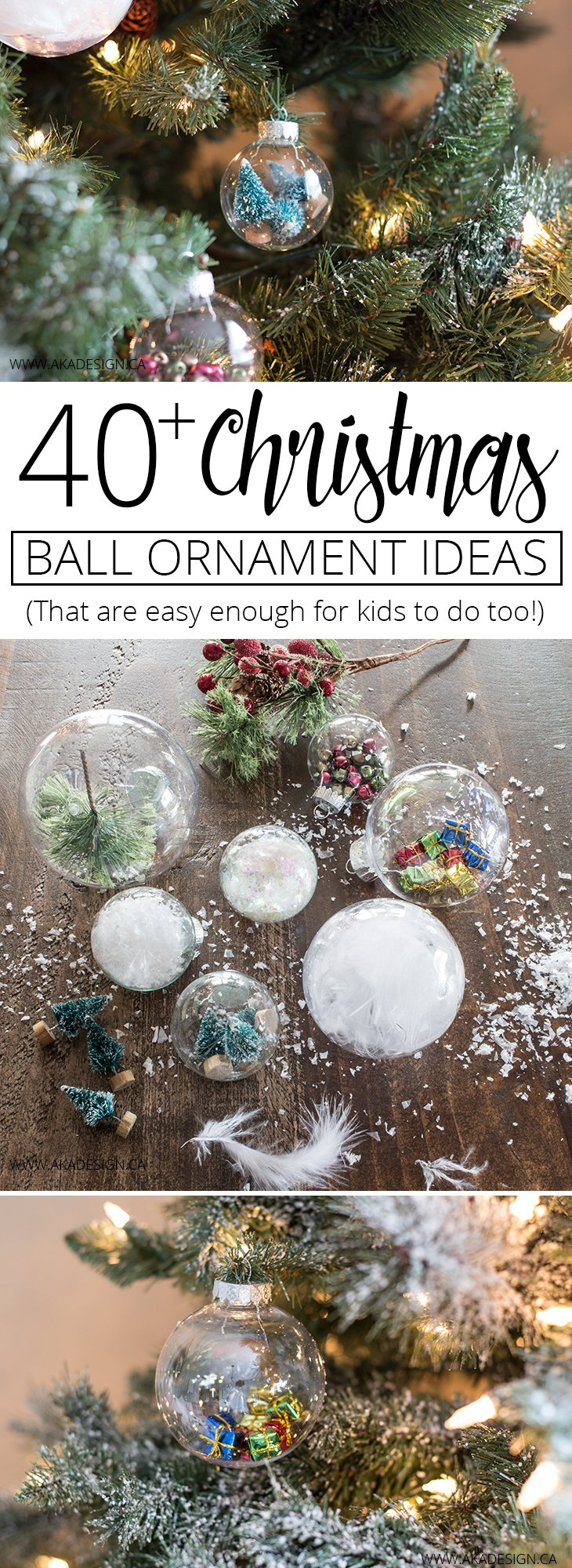 40 plus Christmas ball ornament ideas