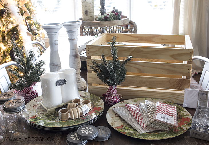 Table Top Hostess Gift Christmas Gift Basket Ideas