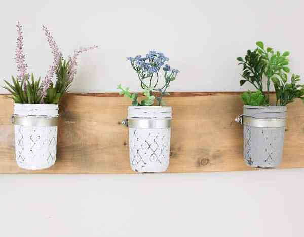 Learn How to Make Your Own DIY Mason Jar Wall Planter