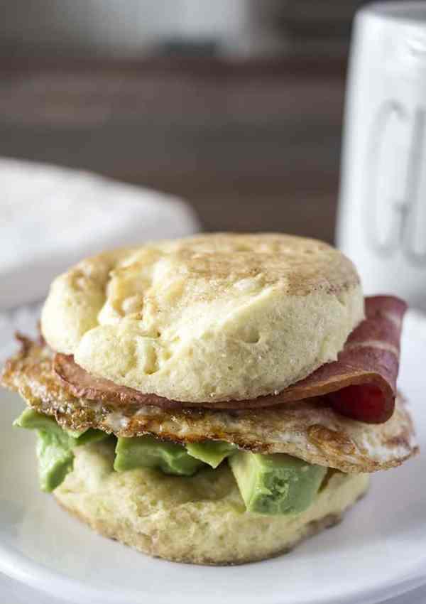 Grain Free English Muffin Breakfast Sandwiches
