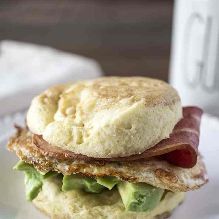 Grain Free English Muffin Breakfast Sandwiches (Paleo)
