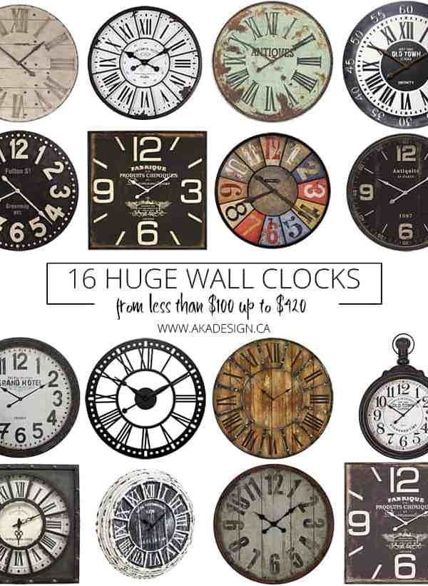 16 HUGE Wall Clocks (From Less Than $100 Up To $420)