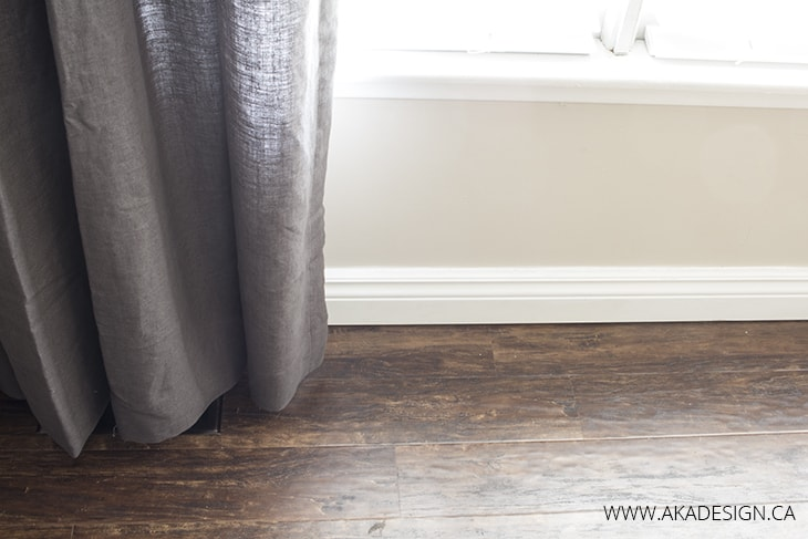 Drapes just above the floor