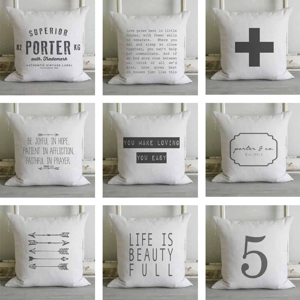 Etsy Porter Lane Home Pillow Covers