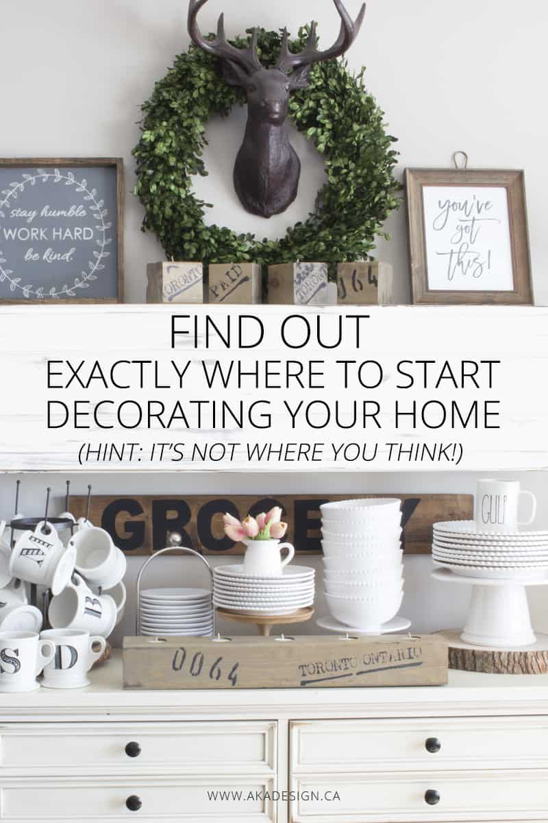 FIND OUT EXACTLY WHERE TO START DECORATING YOUR HOME