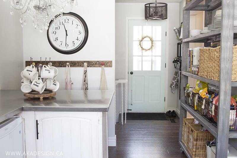 side door open pantry