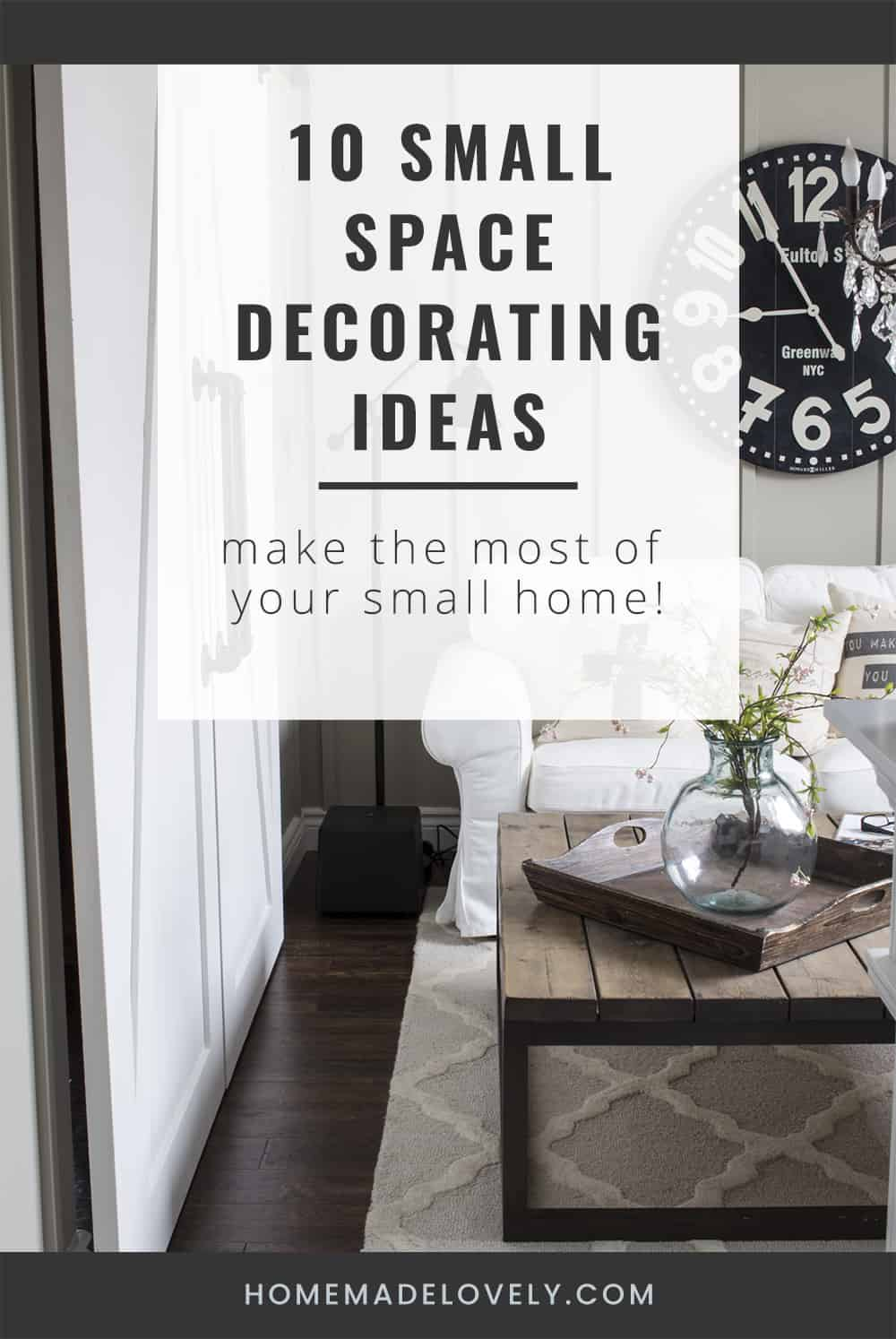 10 small space decorating ideas pin
