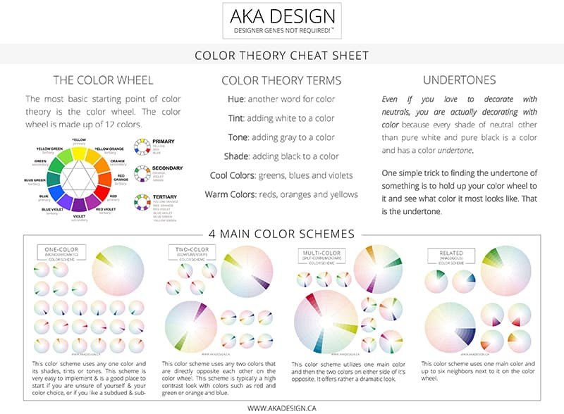 Click here to get the FREE Color Theory Cheat Sheet!