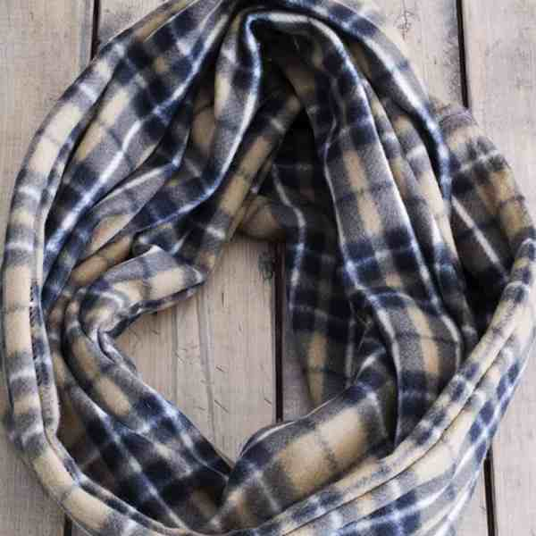 Fleece Infinity Scarf DIY