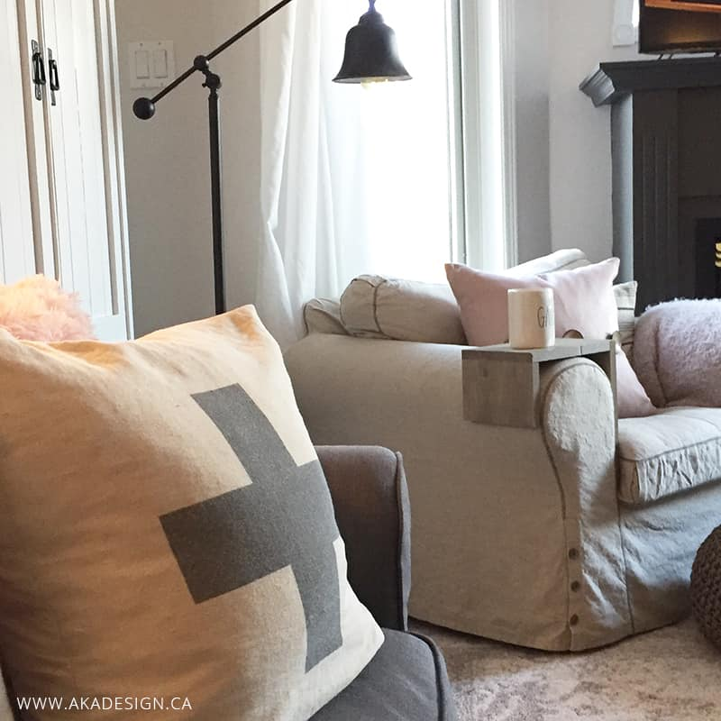 armchair table and mug