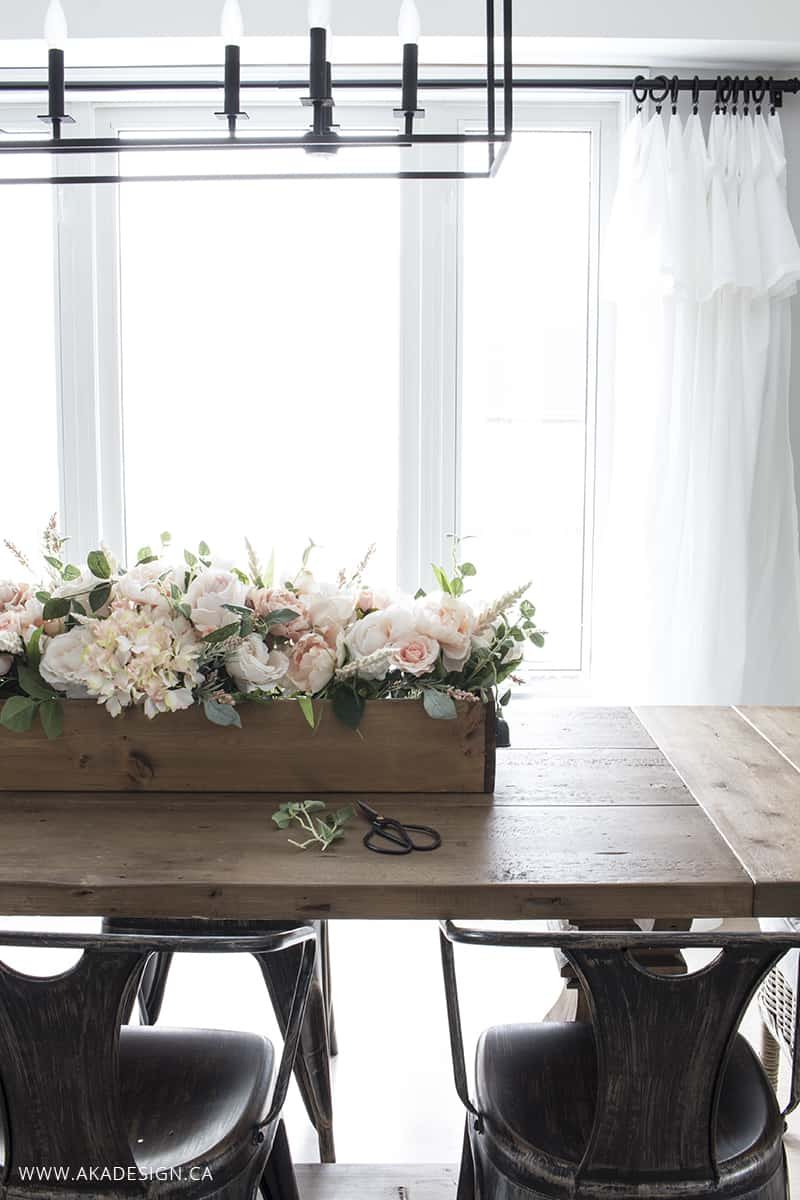 rustic feminine faux floral crate