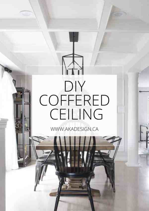 DIY Coffered Ceiling – How to DIY a Professional Looking Coffered Ceiling for Less than $500!