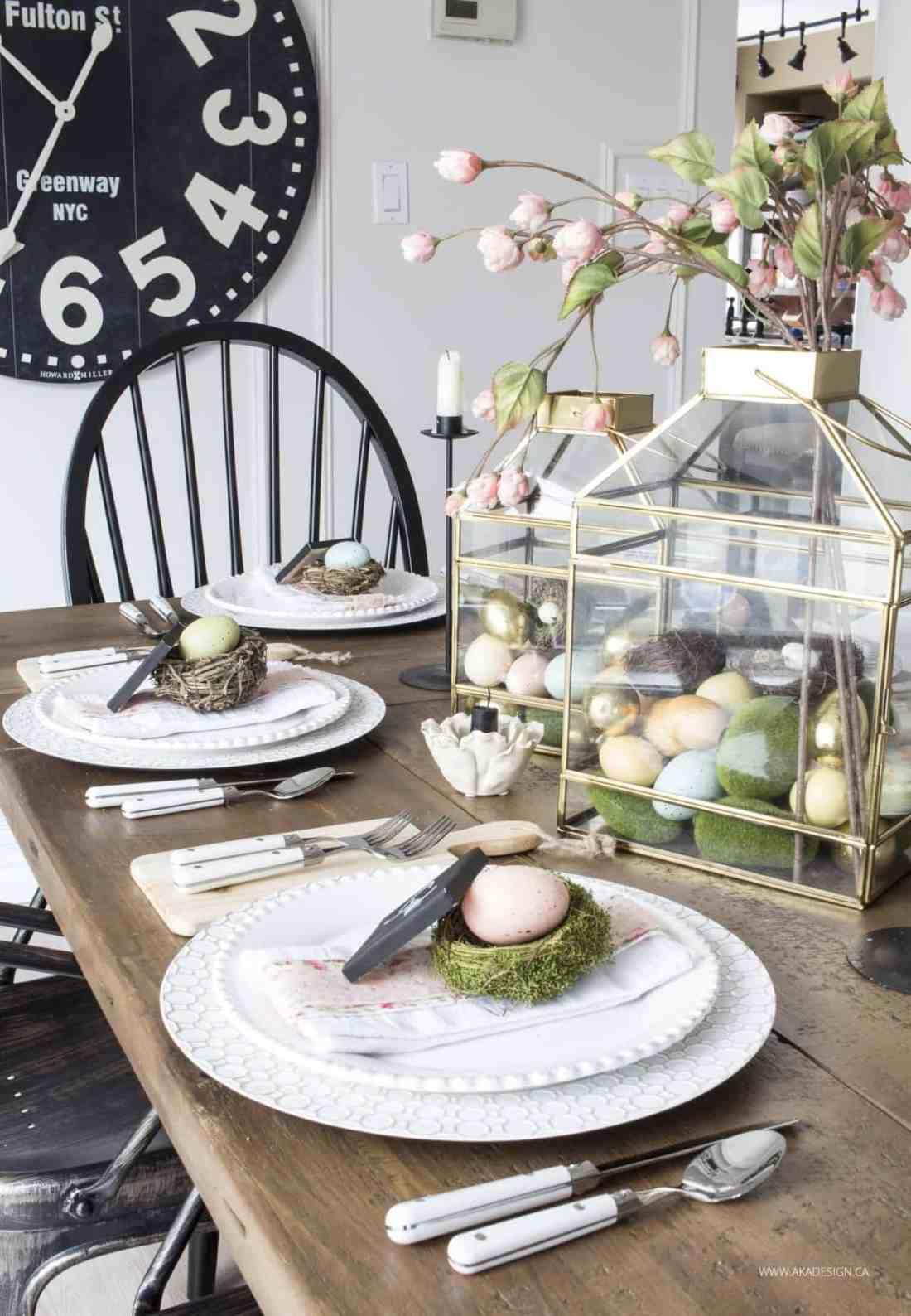 Farmhouse Easter Table Setting