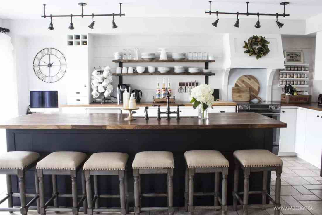 Home Made Lovely | modern farmhouse kitchen