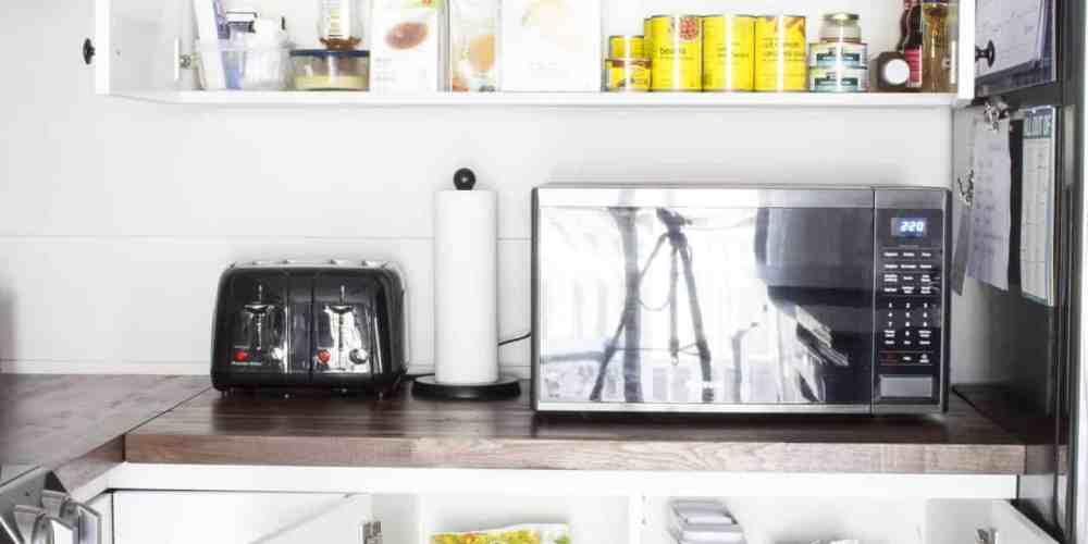 Organized pantry storage with no pantry