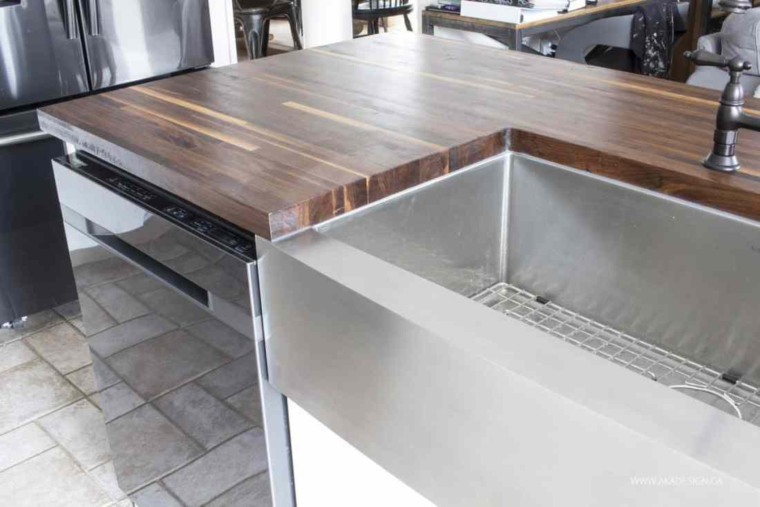 butcher block counter