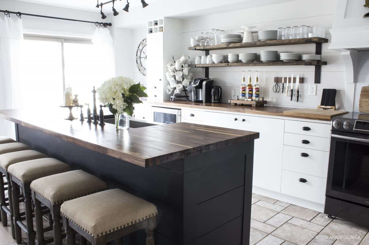 farmhouse style kitchen islands microfibres rug our modern makeover the reveal