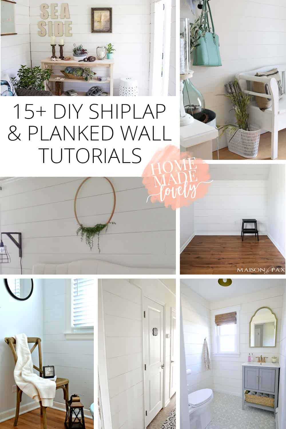 15+ DIY Shiplap and Planked Wall Tutorials You Should See!