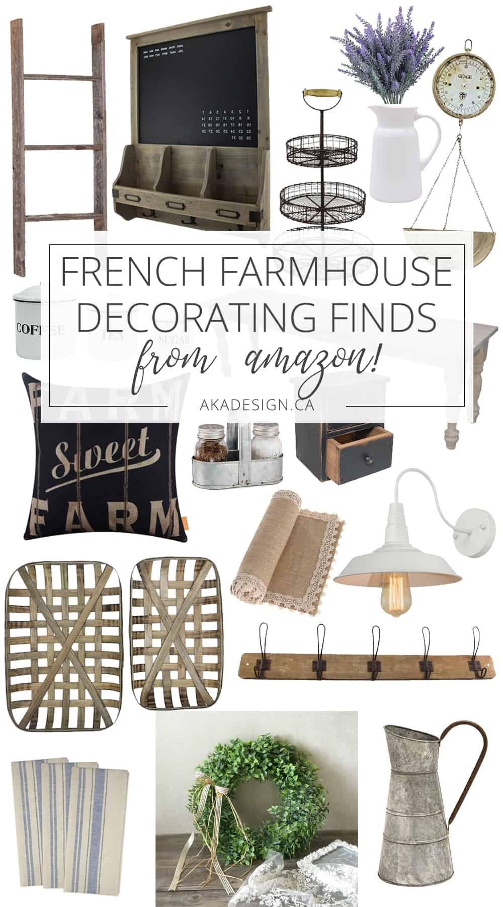 French Farmhouse Decorating Finds on Amazon