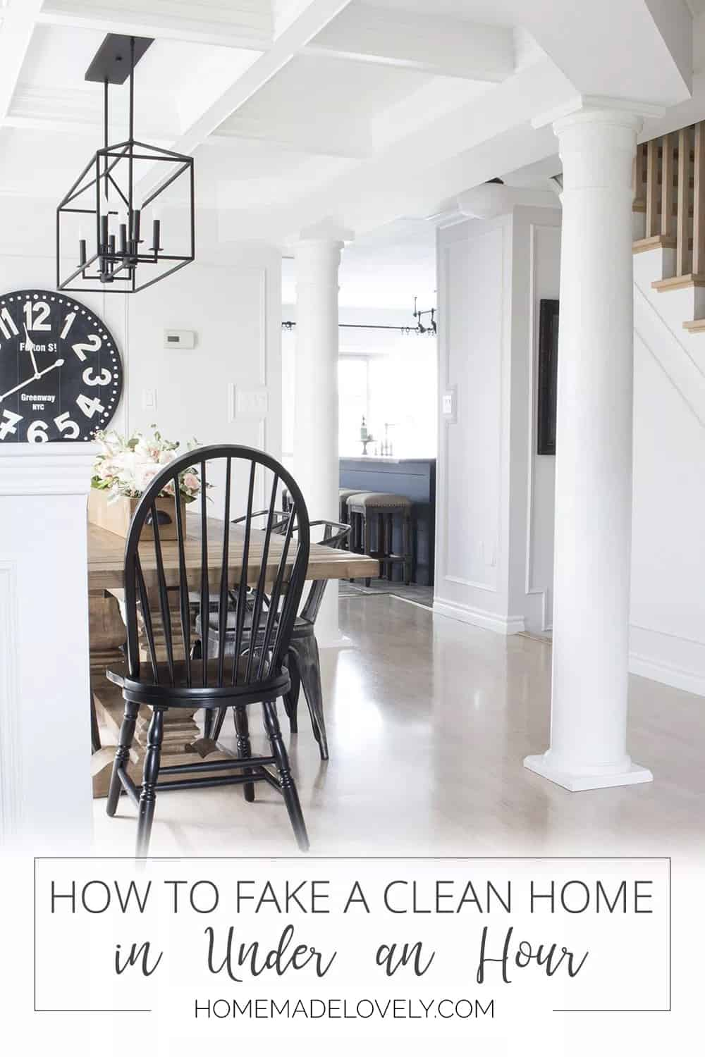 How to fake a clean home in an hour pin