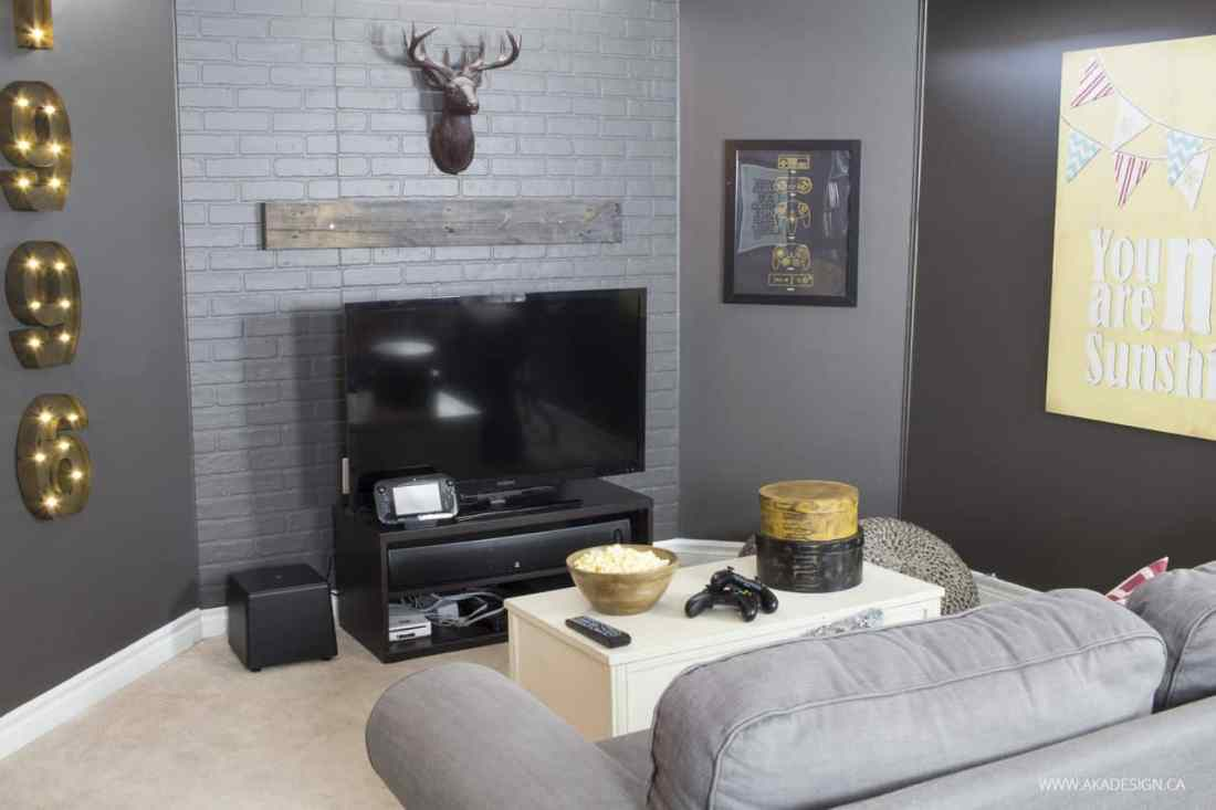 AKA Design Rustic Industrial Basement Makeover 1