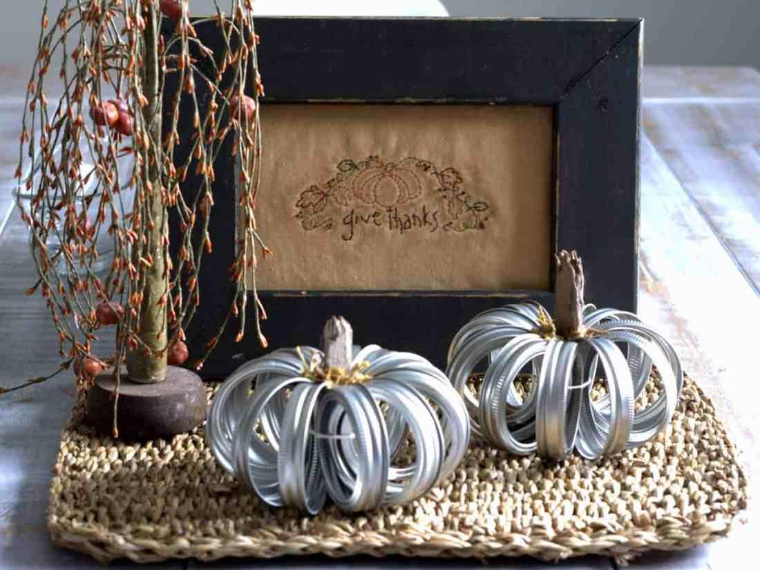 canning jar ring pumpkin craft