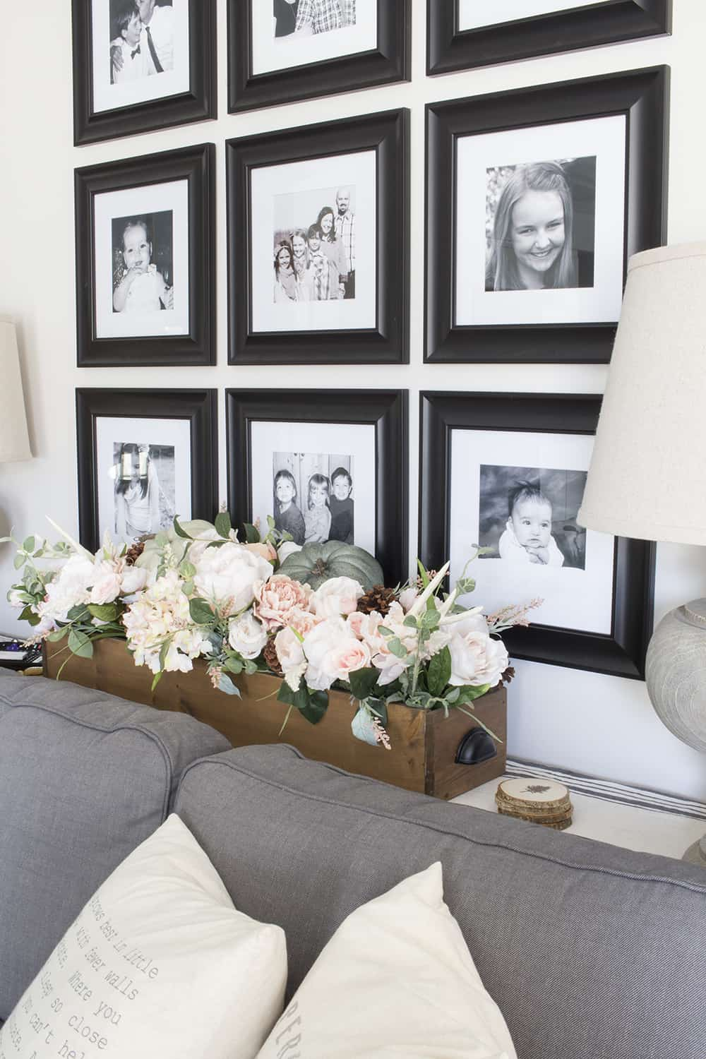 family photo grid wall