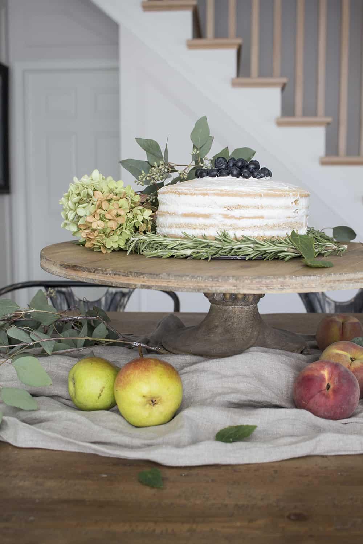 naked cake wood cake stand
