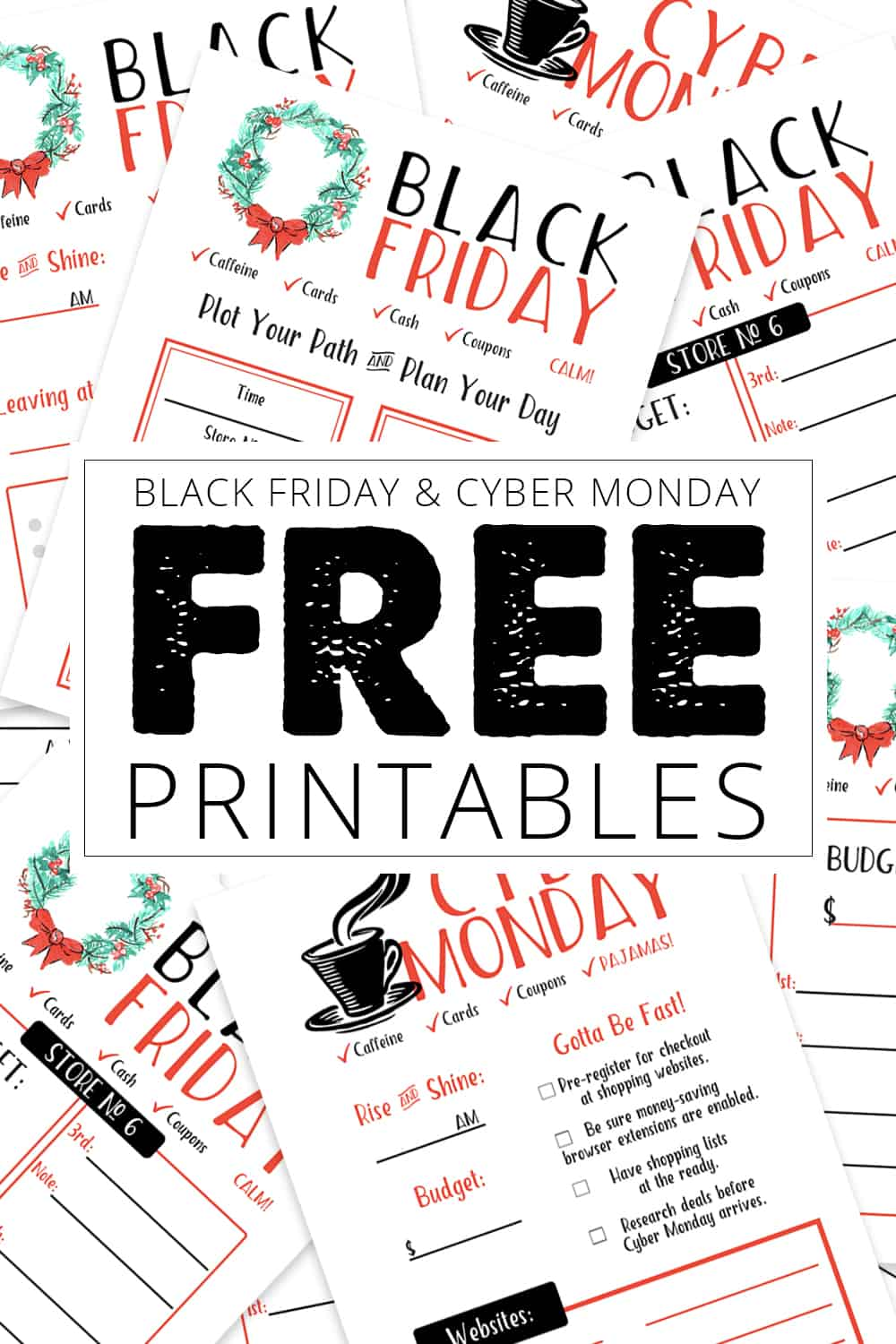 Black Friday and Cyber Monday Free Printables