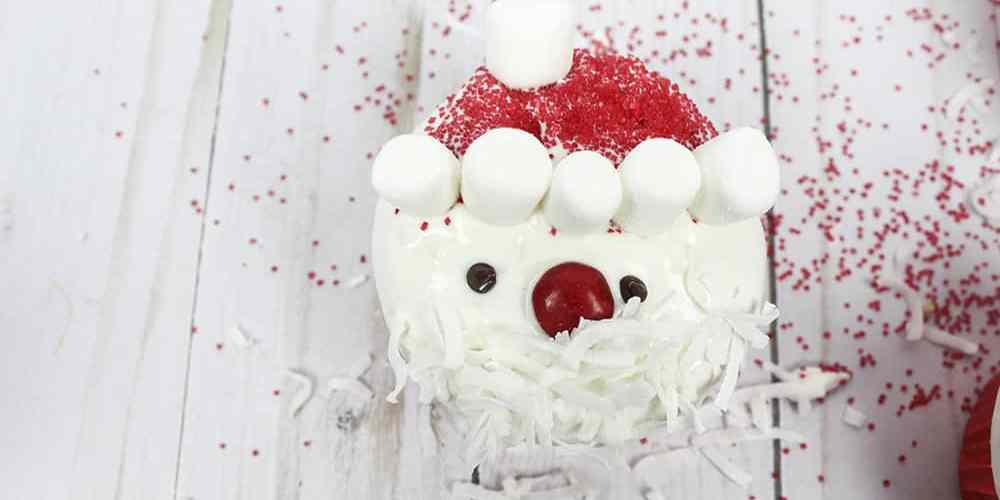 Easy Santa Cupcakes