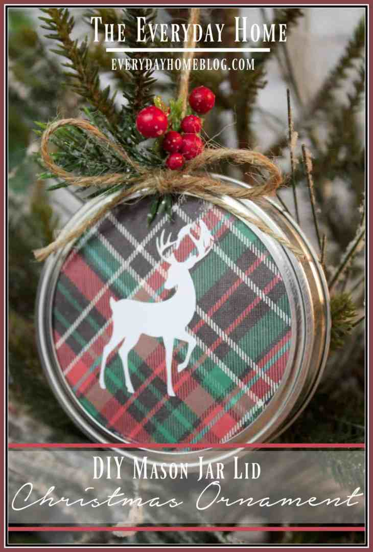 Everyday Home Blog DIY-Mason-Jar-Lid-Christmas-Ornament