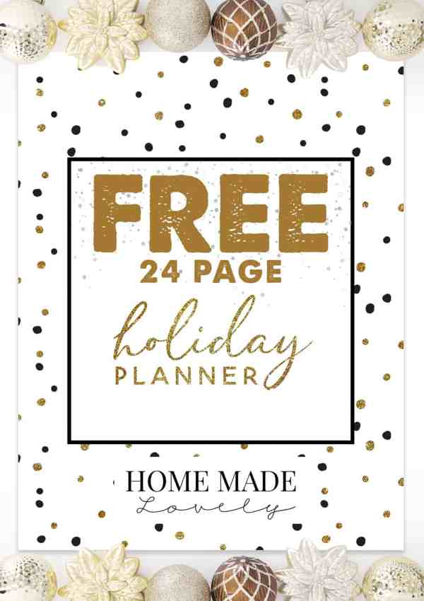 FREE Holiday Planner Pack – 23 Free Printable Pages to Plan Christmas!