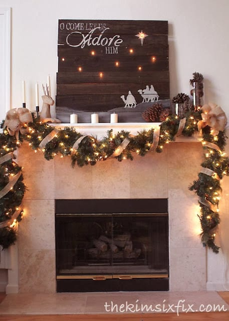 distressed christmas signs practically functional - Diy Christmas Signs